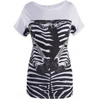 Monnari T-shirt z zebrami TSH2210