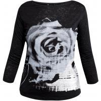 Monnari T-shirt z kwiatem róży TSH2470
