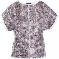 Monnari Krótki t-shirt z motywem wężowej skóry JUM1060