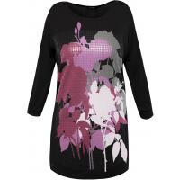 Monnari Dłuższy t-shirt z kwiatowym nadrukiem TSH3110