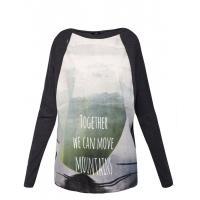 Monnari T-shirt oversize z barwnym nadrukiem TSH2810