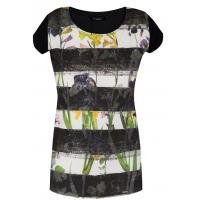 Monnari Pasiasty t-shirt w kwiaty TSH0850