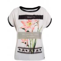 Monnari Elegancki t-shirt z kwiatem TSH1950