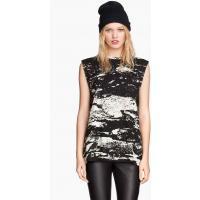 H&M Koszulka z nadrukiem 0249672009 Beżowy
