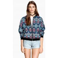 H&M Patterned bomber jacket 0214740008 Turquoise/Patterned