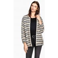 H&M Jacquard-weave jacket 0261651002 Natural white/Striped