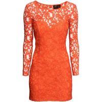H&M Koronkowa sukienka 0228198007 Pomarańczowy