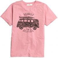 H&M T-shirt z nadrukiem 0291086010 Różowy