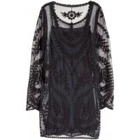 H&M Koronkowa sukienka 0311089003 Czarny
