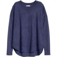 H&M Sweter z domieszką wełny 0311247001 Ciemnoniebieski