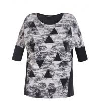 Monnari T-shirt z trójkątami TSH4320