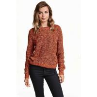 H&M Sweter 0244011019 Pomarańczowy melanż