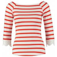 mint&berry Bluzka z długim rękawem white-fire red M3221D07G-A12