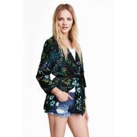 H&M Wzorzyste kimono 0330985001 Czarny