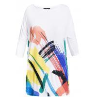 Monnari T-shirt z barwnymi maziajkami TSH1420