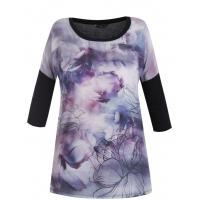 Monnari T-shirt z kwiatowym pejzażem TSH5730