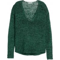 H&M Sweter 0329097004 Ciemnozielony