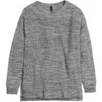 H&M Sweter z dzianiny w prążek 0296041006 Ciemnoszary