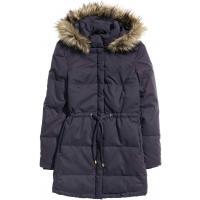 H&M Watowana kurtka 0322465004 Granatowy