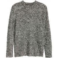 H&M Sweter z domieszką wełny 0340531001 Czarny melanż