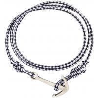 H&M Pleciona bransoletka 0361342003 Ciemnoniebieski/Biały