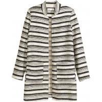 H&M Żakardowy płaszcz 0368159006 Naturalna biel/Paski