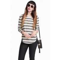 H&M Fine-knit jumper 0358547001 Natural white/Striped