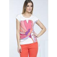 Monnari T-shirt z rysunkowym kwiatem TSH1470