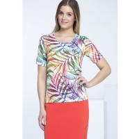 Monnari Kolorowy t-shirt z tropikalnym wzorem TSH2550