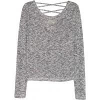 H&M Sweter 0379728001 Czarny melanż