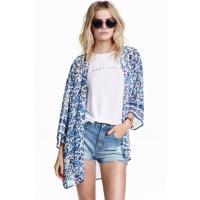 H&M Kimono 0256607021 Biały/Niebieskie kwiaty