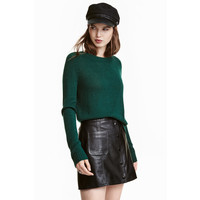 H&M Sweter 0404712012 Zielony petrol