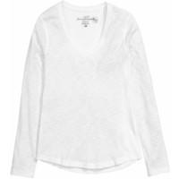 H&M Dżersejowy top 0424022005 Biały