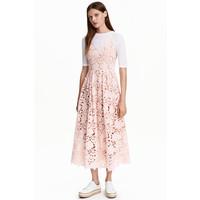 H&M Koronkowa sukienka 0391361008 Jasnoróżowy