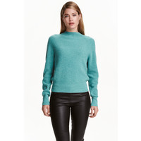 H&M Kaszmirowy sweter 0394276006 Turkusowy melanż