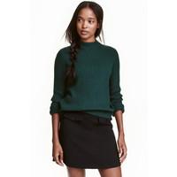 H&M Sweter w prążki 0405442001 Szmaragdowy