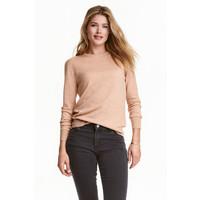 H&M Sweter z wełny merynosowej 0317458007 Beżowy melanż