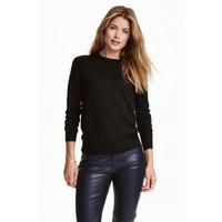 H&M Sweter z wełny merynosowej 0317458009 Czarny