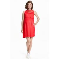 H&M MAMA Dżersejowa sukienka 0429733001 Czerwony