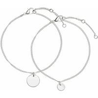H&M Bransoletka 2-pak 0452515002 Silver