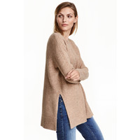 H&M Sweter 0390625009 Beżowy melanż