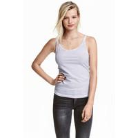 H&M Dżersejowa koszulka 0355072017 Biały/Paski