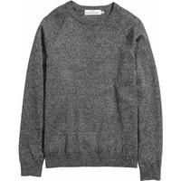 H&M Cienki sweter 0410750001 Ciemnoszary melanż