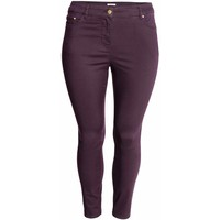 H&M H&M+ Elastyczne spodnie 0352811014 Ciemnofioletowy