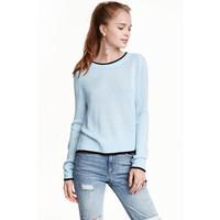H&M Sweter 0404712012 Jasnoniebieski