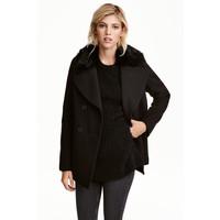H&M Dwurzędowa kurtka 0395666001 Czarny