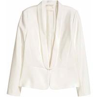 H&M Marynarka smokingowa 0402836002 Biały