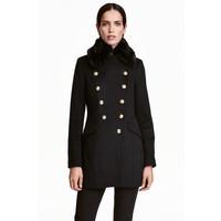 H&M Dwurzędowa kurtka 0416721001 Czarny