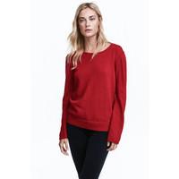 H&M Cienki sweter 0401406001 Ciemnoczerwony