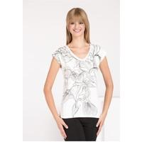 Monnari T-shirt z kwiatowym wzorem TSHIMP0-16J-TSH4450-K000D004-R0S